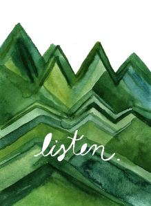 'Listen' by Gina Ann Wombacher – Almofate's Pinterest «Spreading Messages» board cover