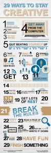 29 Ways to Stay Creative, Infographic by Islam Abudaoud – Almofate's Pinterest «Creativity & Creativities» board cover