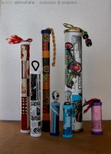 @ Almofate - Cases from upcycled cardboard tubes and caps _ Estojos de tampinhas e tubos de cartão reutilizados