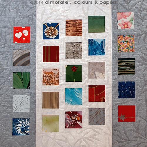 @ Almofate - Paper composition _ 5 x 5 _ Composição em papel