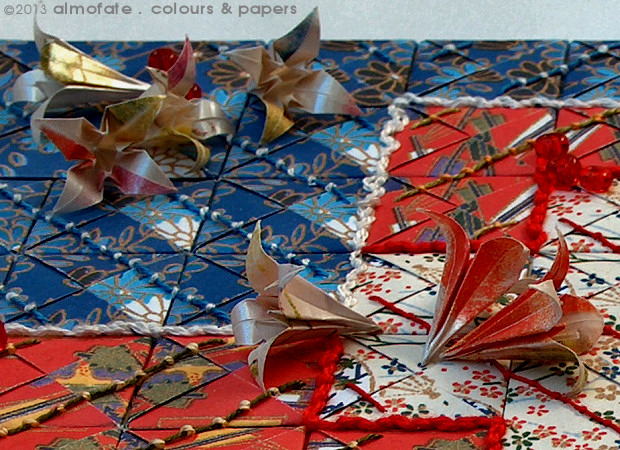 @ Almofate – In progress _ FLOWER BEDS, Multi-modular Origami quilt _ Em curso