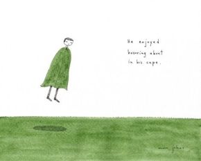 @ Almofate – He enjoyed hovering about in his cape, by Marc Johns