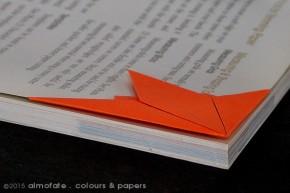 @ Almofate - Page corner _ Origami_ Marcador de canto