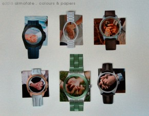 @ Almofate - Hands and Time, collages _ Mãos e Tempo, colagens