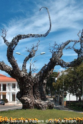 Colours & Papers - Monument to the Tree by Portuguese sculptor Aureliano Aguiar