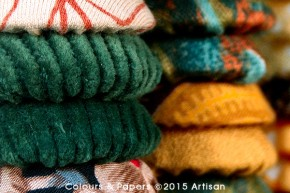 Colours & Papers - Autumn season assemblage close-up