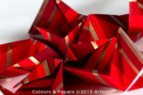 Colours & Papers - Modular origami kusudama detail