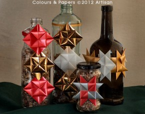 Colours & Papers - Origami on glass Christmas decoration